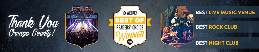 OC Weekly Best of Readers Choice Winner 2017